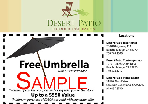 Free Umbrella Offer - Thumb